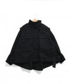 styling/ kei shirahata(スタイリング / ケイ シラハタ)の古着「ショートマウンテンパーカー」 ブラック