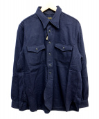 Muller & Bros(ミューラーアンドブロス)の古着「ワークシャツ」 ネイビー