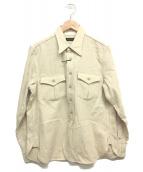 Muller & Bros(ミューラーアンドブロス)の古着「ワークシャツ」 ベージュ