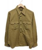Muller & Bros(ミューラーアンドブロス)の古着「ワークシャツ」 カーキ