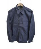 Muller & Bros(ミューラーアンドブロス)の古着「ガレージシャツ」 インディゴ