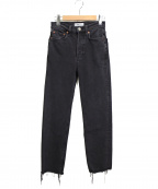 RE/DONE(リダン)の古着「カットオフデニムパンツ」 ブラック
