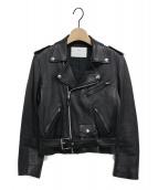 TOGA PULLA(トーガ プルラ)の古着「ラムレザーダブルライダースジャケット」 ブラック