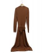 MAISON SPECIAL(メゾンスペシャル)の古着「ジャガードニットマキシワンピース」|ブラウン