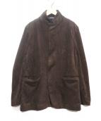 EMPORIO ARMANI(エンポリオアルマーニ)の古着「スウェードタッチジップアップジャケット」|ブラウン