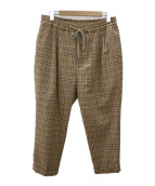 MONKEY TIME(モンキータイム)の古着「TW TARTAN CHECK DROPPED ANKLE」|ベージュ