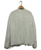 Scye(サイ)の古着「高密度リネンタックシャツ」|ホワイト