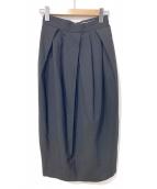 LE CIEL BLEU(ルシェルブルー)の古着「ウールブレンドペグスカート」|ブラック