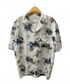 STUDIOUS(ステュディオス)の古着「オープンカラーダークフラワーアロハシャツ/」|ホワイト