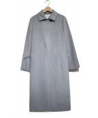 UNTITLED(アンタイトル)の古着「カシミヤベルテッドコート」|ブルー