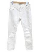 YANUK(ヤヌーク)の古着「ボーイズスリムパンツ」|ホワイト