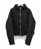 mnml(ミニマル)の古着「ビッグシルエット中綿ジャケット」|ブラック