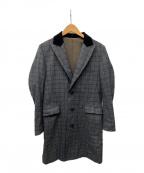 JOHNBULL(ジョンブル)の古着「チェスターフィールドコート」 グレー×ブラック