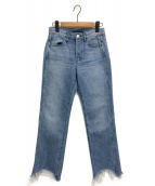 3×1(スリーバイワン)の古着「ストレートフレアデニムパンツ」|ブルー