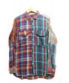 BRU NA BOINNE(ブルーナボイン)の古着「チェックシャツ」|マルチカラー