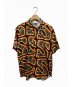 sss world corp(トリプルエス ワールドコープ)の古着「ピューマショートスリーブシャツ」|ブラック