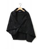 tricot COMME des GARCONS(トリコ コムデギャルソン)の古着「アシンメトリーポンチョ」|ブラック