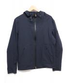 PEUTEREY(ビューテリ)の古着「ゴム引きフーデッドジャケット」|ネイビー