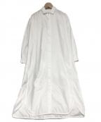 BARBA(バルバ)の古着「ロングシャツワンピース」|ホワイト