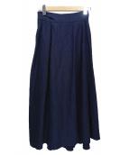 INCOTEX(インコテックス)の古着「リネンスカート」|ネイビー