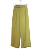 SLOBE IENA(イエナスローブ)の古着「リネンライクワイドパンツ」|ライトグリーン
