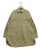 Whim Gazette(ウィムガゼット)の古着「オーガニックコットンビッグシャツ」|ベージュ