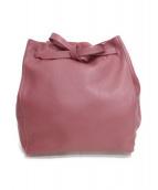 INED(イネド)の古着「レザートートバッグ」 ピンク