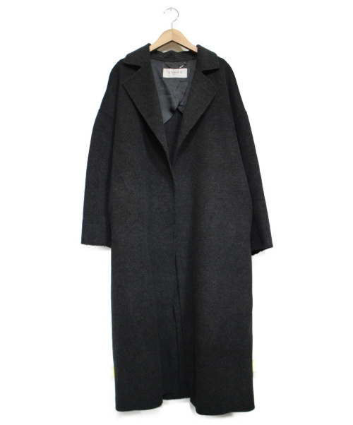 ADORE(アドーア)ADORE (アドーア) スーパーダブルフェイスベルト付コート チャコールグレー サイズ:38の古着・服飾アイテム