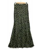 Shinzone(シンゾーン)の古着「フラワープリントスカート」 ブラック