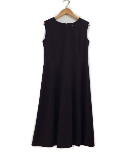 INDIVI(インディビ)INDIVI (インディヴィ) リネンライクワンピース パープル サイズ:05の古着・服飾アイテム