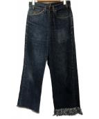 77circa(ナナナナサーカ)の古着「カットオフリメイクデニムパンツ」