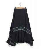 Ujoh(ウジョー)の古着「フレアスカート」|ネイビー