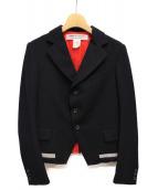 COMME des GARCONS COMME des GARCONS(コムデギャルソンコムデギャルソン)の古着「裾ライン切替テーラードジャケット」|ネイビー
