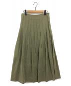 ELIN(エリン)の古着「ソリッドベルスカート」|グリーン