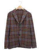 THE GIGI(ザ・ジジ)の古着「ウールチェックジャケット」|ネイビー