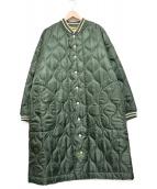 FRAPBOIS(フラボア)の古着「キルティコート」|カーキ