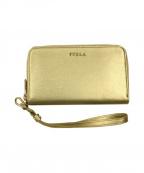 FURLA(フルラ)の古着「ラウンドファスナーウォレット」 ゴールド