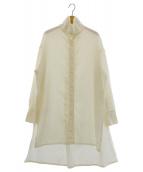CABaN(キャバン)の古着「ハイネックロングシャツ」|オフホワイト