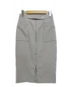 BOSCH(ボッシュ)の古着「2WAYダブルクロスタイトスカート」|スカイブルー