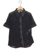N°21 NUMERO VENTUNO(ヌメロヴェントゥーノ)の古着「レースシャツ」|ブラック