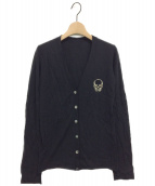 lucien pellat-finet(ルシアンペラフィネ)の古着「カシミヤカーディガン」 ブラック