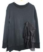 UN3D.(アンスリード)の古着「フリルパーツスウェット」 ブラック