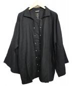 SOU・SOU(ソウソウ)の古着「リネン陣風靡シャツ」|ブラック