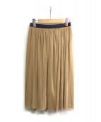 SHIPS(シップス)の古着「チュールリバーシブルミドル丈スカート」|ベージュ