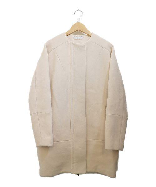 TEN×RON HERMAN(テン× ロンハーマン)TEN×RON HERMAN (テン× ロンハーマン) ノーカラーコート ベージュ サイズ:XSの古着・服飾アイテム