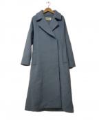 LOUNIE(ルーニー)の古着「ウールロングコート」 ブルー