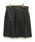 yohji yamamoto+Noir(ヨウジヤマモトプリュスノアール)の古着「ラップスカート」|ブラック