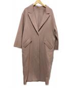 Mila Owen(ミラオーウェン)の古着「接結ロングコート」|ピンク