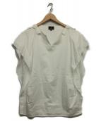 LANVIN COLLECTION(ランバンラコレクション)の古着「スキッパーワイドブラウス」|ホワイト