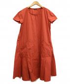 JIL SANDER NAVY(ジルサンダーネイビー)の古着「ワンピース」|レッド